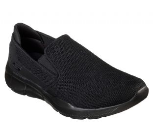 Mens Skechers 52937 BBK Equalizer 3 SUMNIN Black Slip-On Trainers